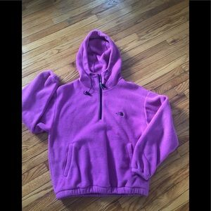 The North Face Pink Fleece Jacket With Hood